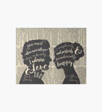 Pride and Prejudice Quote Art, Jane Austen Typography Home Decor, Book Lovers Gift Art Board Print