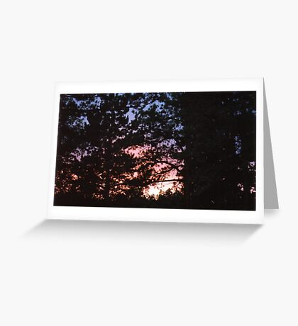An Awesome Summer Sunset Greeting Card