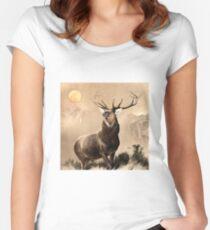 Monarch of the Glen, Edwin Landseer, 1851 Women's Fitted Scoop T-Shirt