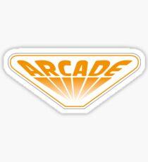 Stranger Things Video Game Arcade Orange  Sticker