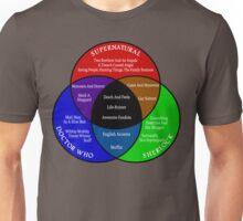 SuperWhoLock Venn Diagram Unisex T-Shirt