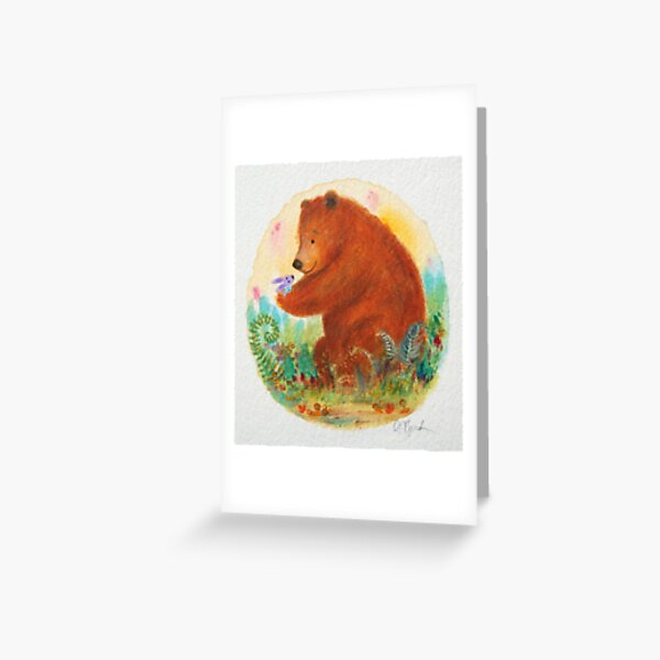 bear and bunny Greeting Card