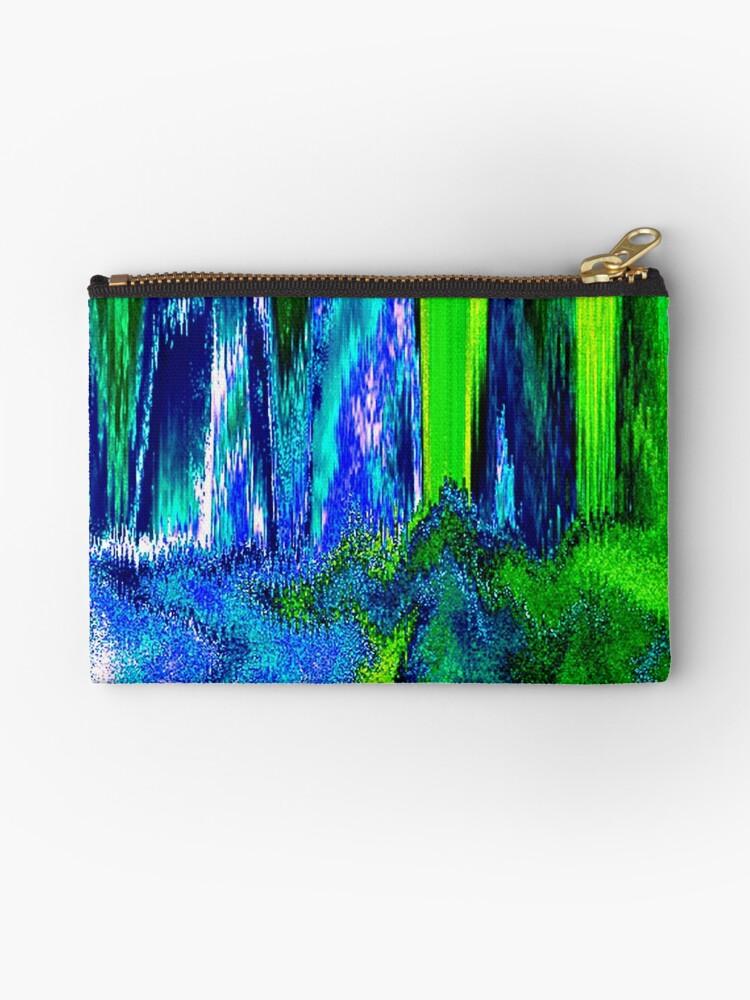 Melted Glitch (Blue & Green) by blakcirclegirl