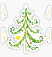 Christmas tree pattern Sticker