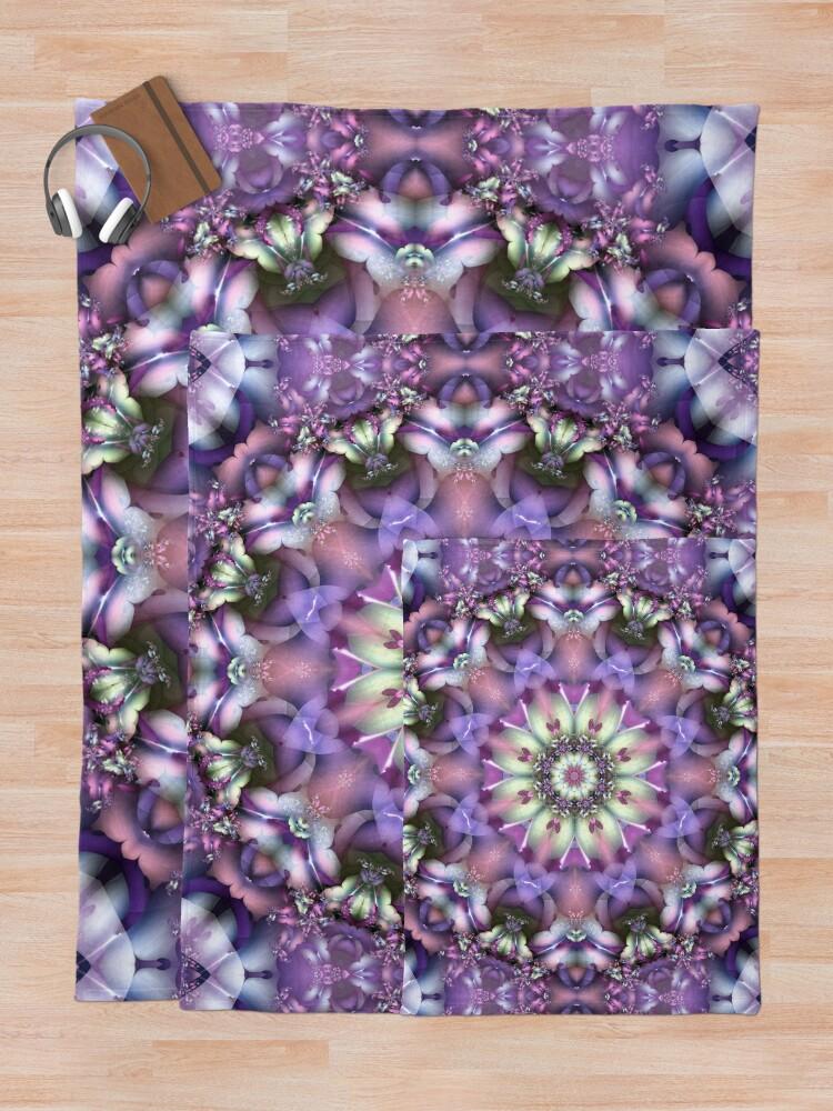 Alternate view of Lilac Mandala Throw Blanket