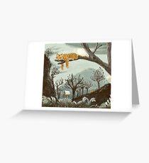 sleeping tiger Greeting Card