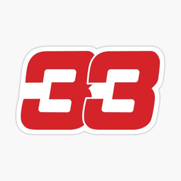 Max Verstappen 33 Redbull 2017 Sticker