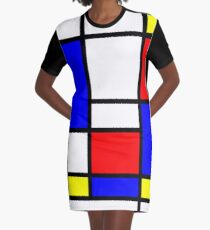 Mondrian Graphic T-Shirt Dress