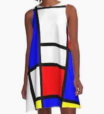 Mondrian A-Linien Kleid