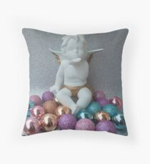 Christmas 2017 Pastel Angel Throw Pillow