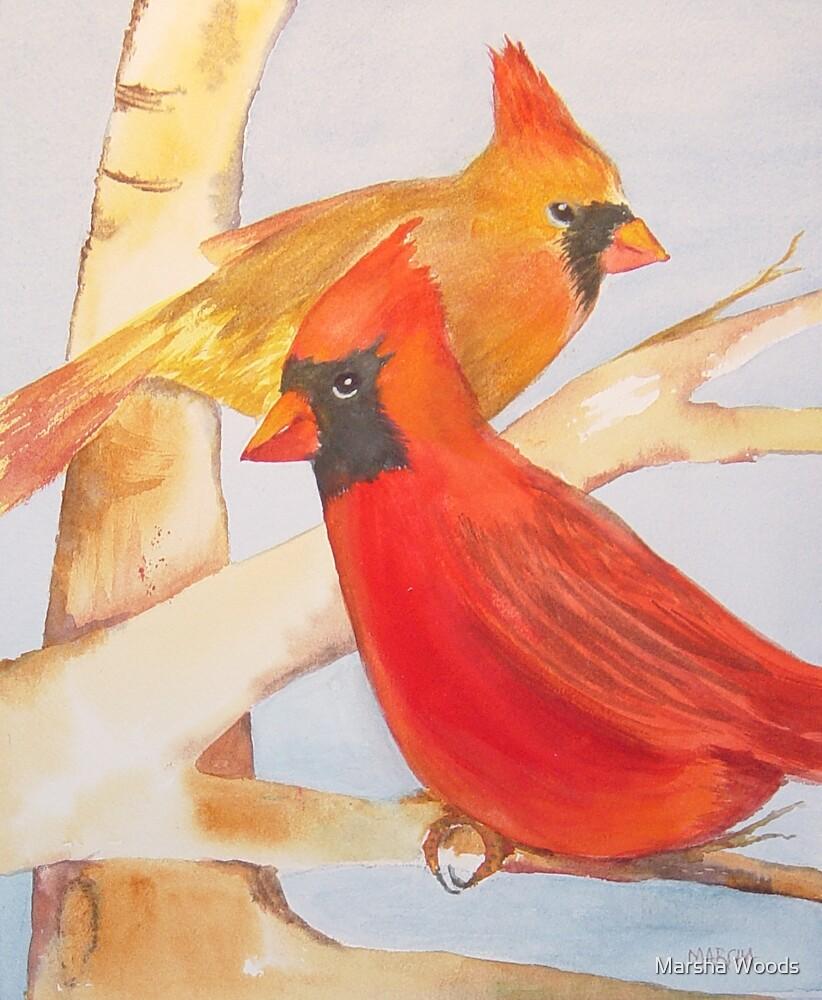 Cardinals II by Marsha Woods