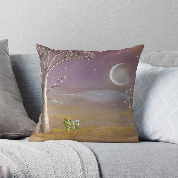 farmer frogs Throw Pillow