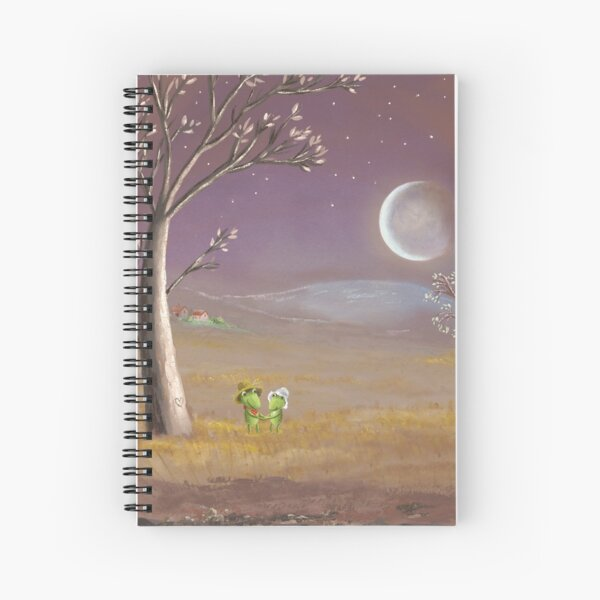 farmer frogs Spiral Notebook