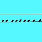 Birds on a wire by Cameron Lundstedt