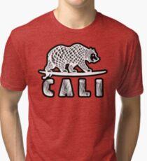 Cali Bear (Tropical Font) Tri-blend T-Shirt