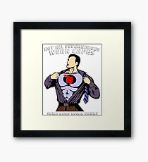 Not All Superheroes Wear Capes, Some Read Comic Books - Comics, Comic Books, Comic, Reading, Hobby Framed Print