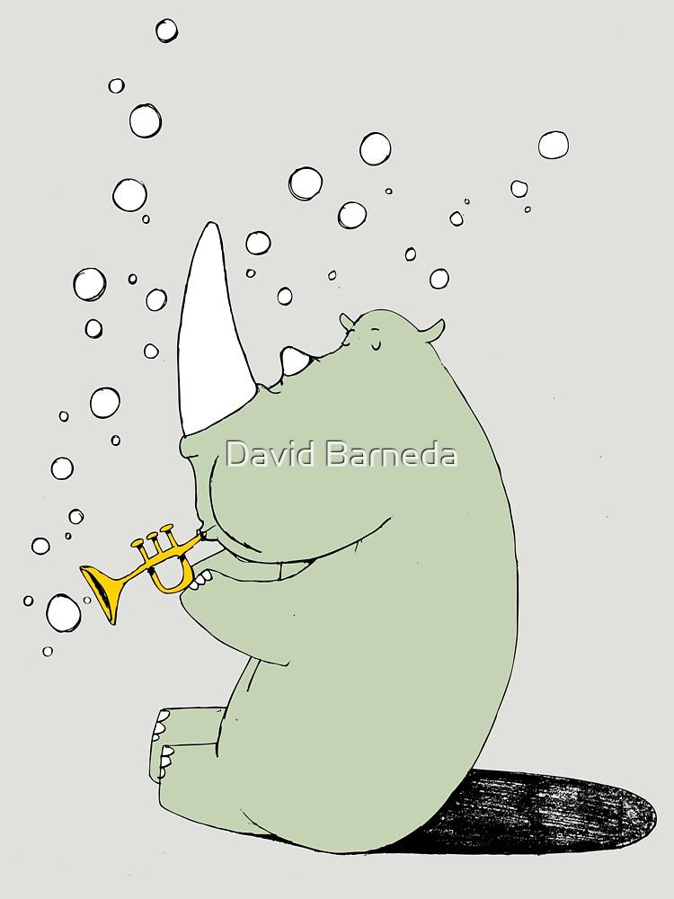 Rhino Blowing Bubbles | Unisex T-Shirt