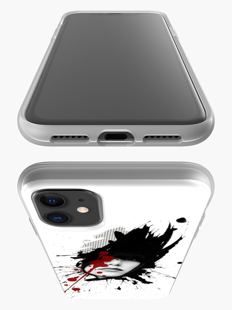 Alternate view of Woman polka trash graphic iPhone Case & Cover