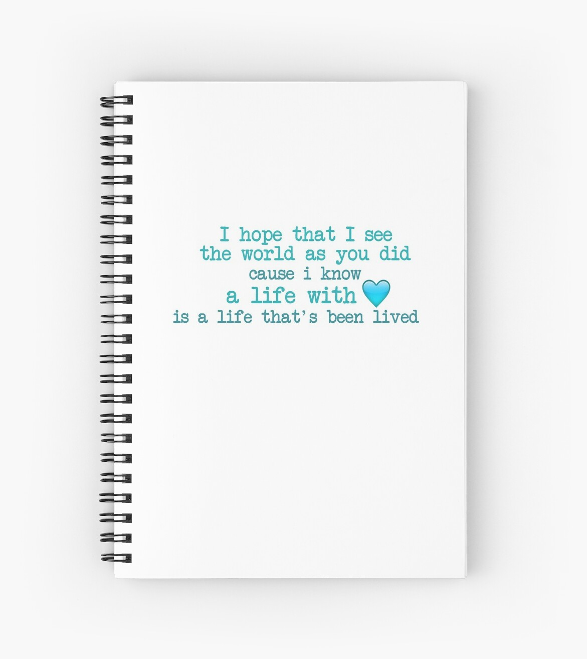 Supermarket flowers lyrics spiral notebooks by annylands redbubble supermarket flowers lyrics by annylands mightylinksfo