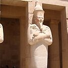 Statues of pharaophs at Luxor, Egypt by chord0