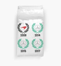 Lewis Hamilton 4 Time F1 World Champion Duvet Cover