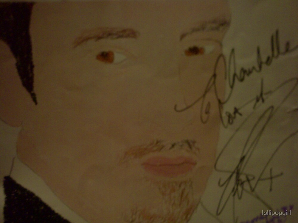 a photo of my derren portrait signed by the man himself by lollipopgirl