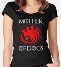 Mother of Dogs - Mother of Boston Terrier  Women's Fitted Scoop T-Shirt