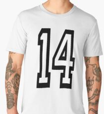 14, TEAM SPORTS, NUMBER 14, FOURTEEN, FOURTEENTH, Competition,  Men's Premium T-Shirt