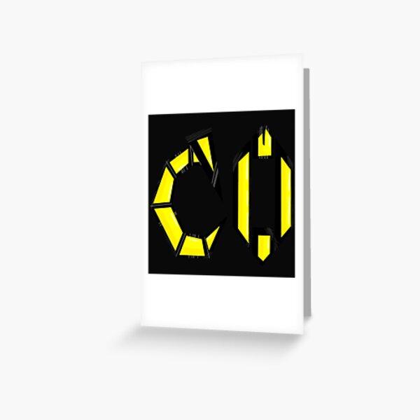 HD Complextro Emblem Greeting Card