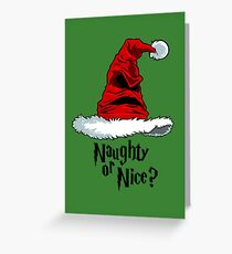 Naughty or Nice? Greeting Card