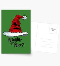Naughty or Nice? Postcards