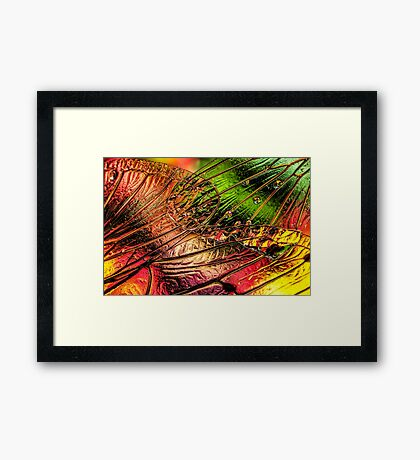 Fall of the Crystal Leaves Framed Print