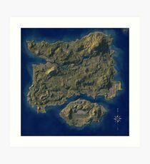 PUBG Map Poster Art Print