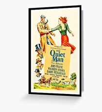 The quiet man, romantic movie poster Greeting Card