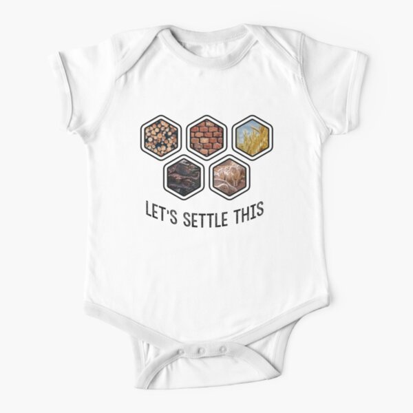 LET'S SETTLE THIS Settlers of Catan Short Sleeve Baby One-Piece