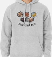LET'S SETTLE THIS Settlers of Catan Pullover Hoodie