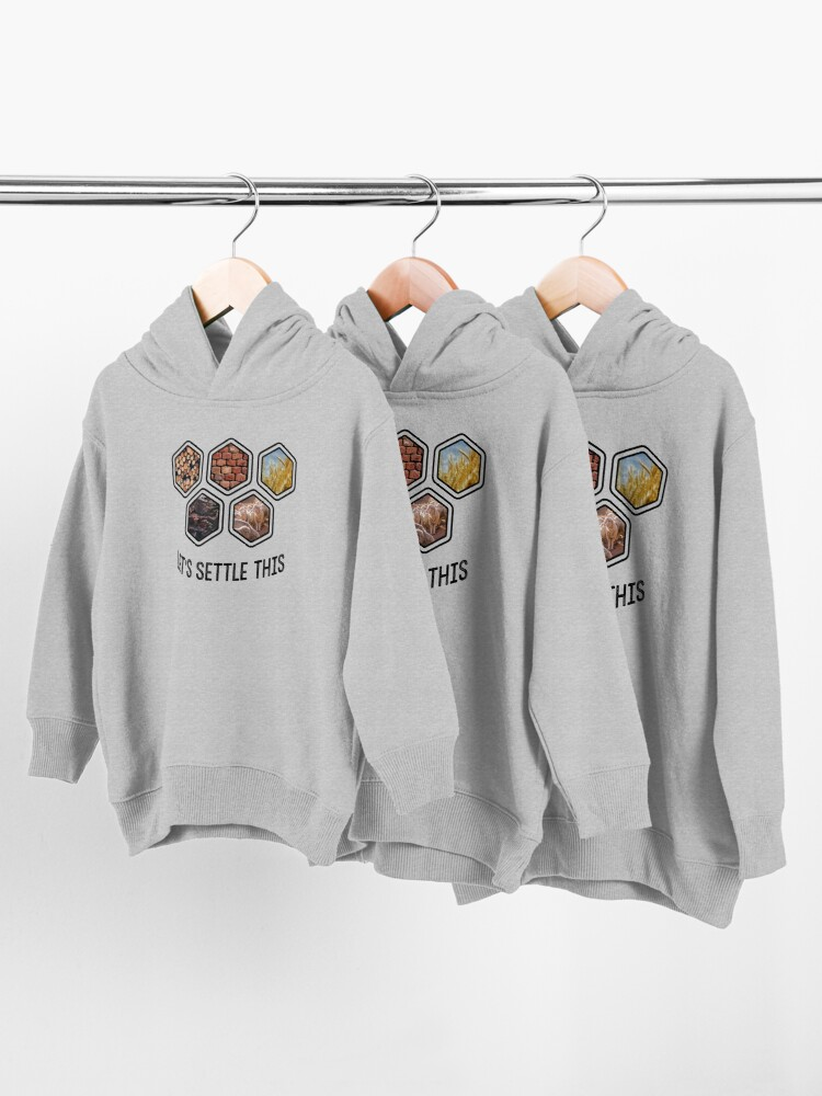 Alternate view of LET'S SETTLE THIS Settlers of Catan Toddler Pullover Hoodie