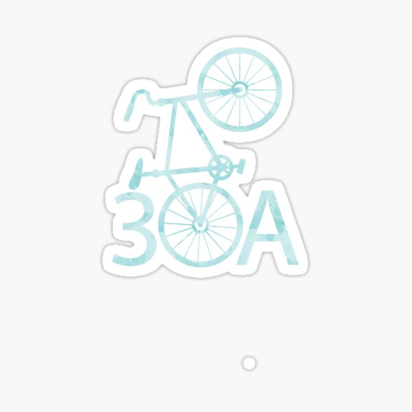 Watercolor 30A with Bike Sticker