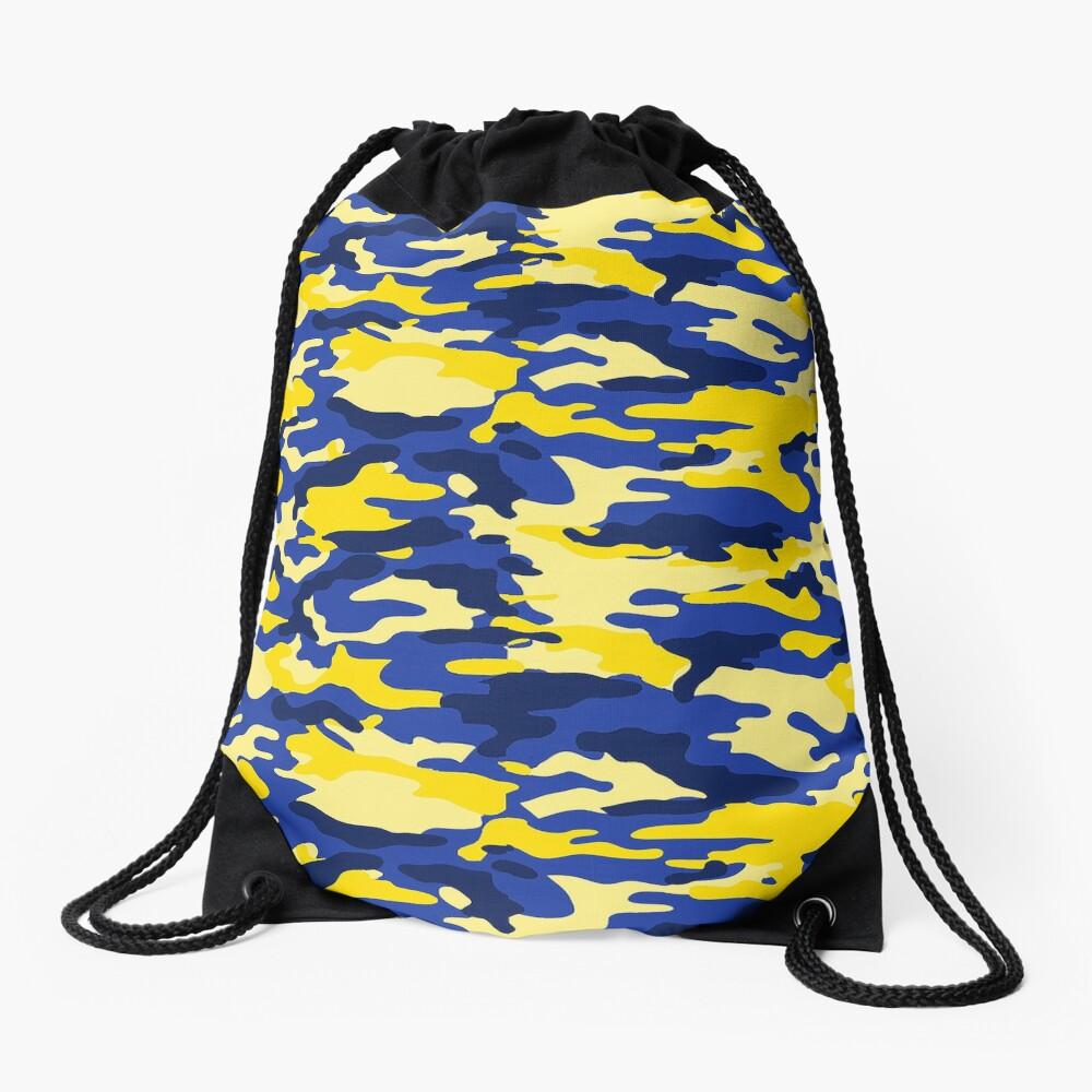 Mich Army Print Drawstring Bag