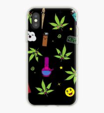 Super awesome Cute Stoner weed stuff iPhone Case