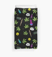 Super awesome Cute Stoner weed stuff Duvet Cover