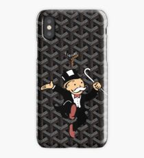 black mono iPhone Case/Skin