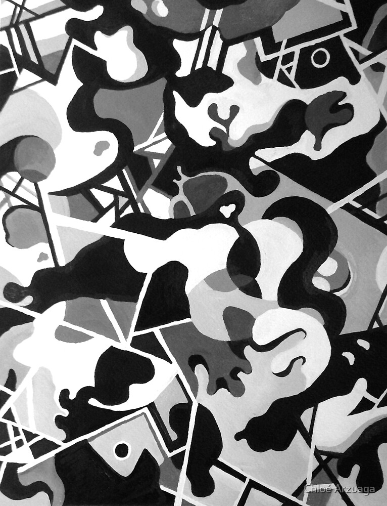 Black and White Abstract by Chloé Arzuaga
