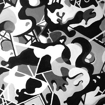 Black and White Abstract by littlegirlbluue