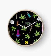 Super awesome Cute Stoner weed stuff Clock