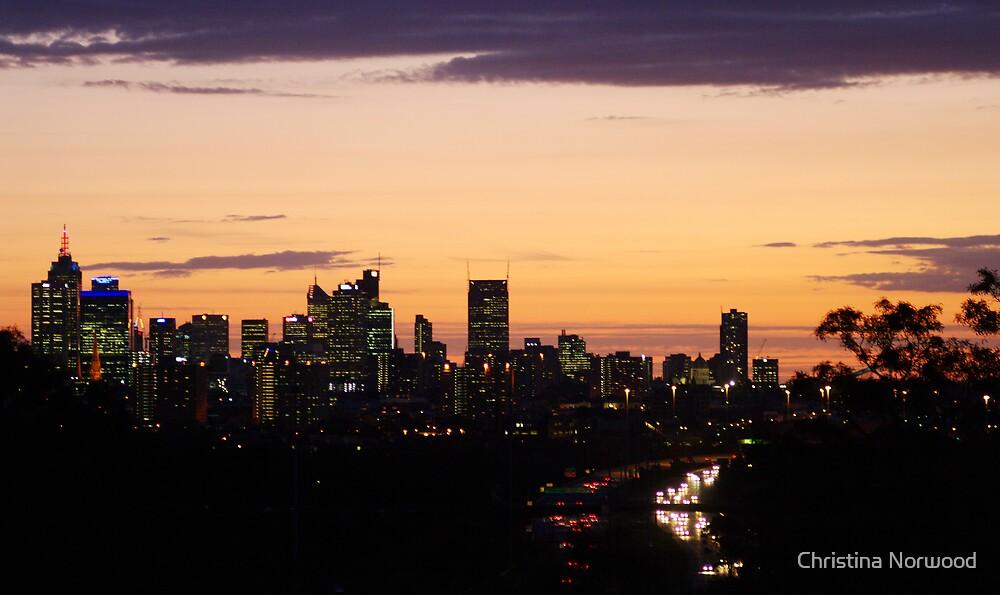 Melbourne Sunset II by Christina Norwood
