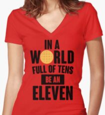Be A Eleven Women's Fitted V-Neck T-Shirt