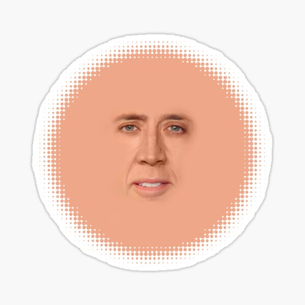nicolas cage - Face Sticker