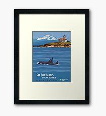 Vintage poster - San Juan Islands Framed Print