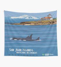 Vintage poster - San Juan Islands Wall Tapestry